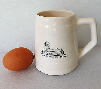 Vintage mug Coningsby St Michaels Church Lincolnshire tankard Anglia Pottery