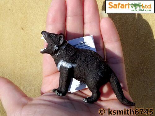 NOUVEAU * Safari Diable de Tasmanie solide Jouet en plastique Wild Zoo Animal Prédateur