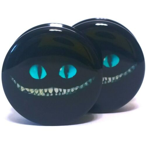 Mad Grin Logo Pair Acrylic Ear Plugs Screw Fit Gauges Flesh Tunnels Earrings