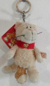 NICI- P.chiavi con gatto e cuore dorato - cm.10