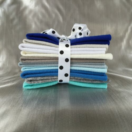 Mix felt craft pack /_Ten 10cm x10cm sqaures /_ Choice of 25 Colour Themes