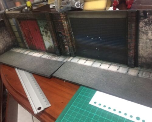 "Figlot 1//18 Escala Paper-Craft Maqueta Calle para 3.75/"" Figuras AW-01-1//18"