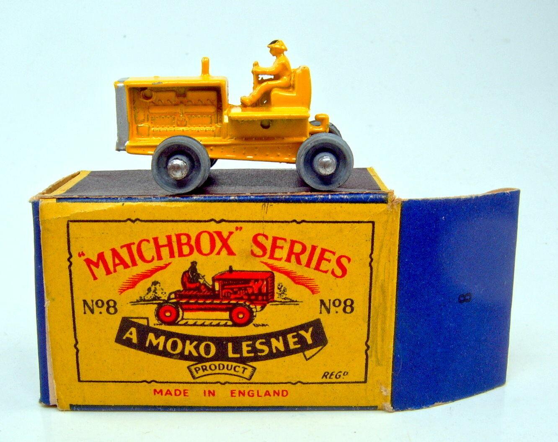 Matchbox RW 08 A Tractor jaune dans TOP  Petit Moko  BOX