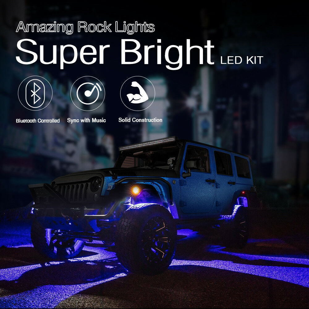 8x Pods Rgb Led Rock Light Offroad