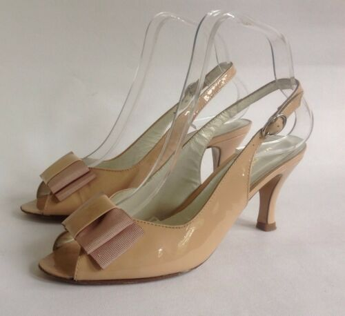 3 Sandalo Russell nuda Shoe Bromley Patent aperta Sandalo 3 Slingback Slingback Russell Leather scarpa in Nude Sandal vernice Bromley con Open v8xwrBtv