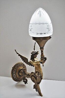 Empire Figur Wandleuchter Bronze Leuchter Frankreich Ende 19.Jhd. Wall Sconce