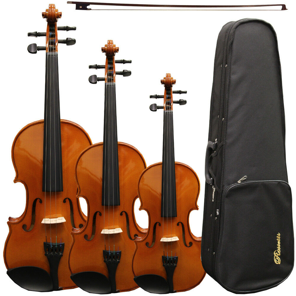 NEW Rossetti Student DELUXE Spruce Top Violin Ensemble with Case, Rosin, Bow