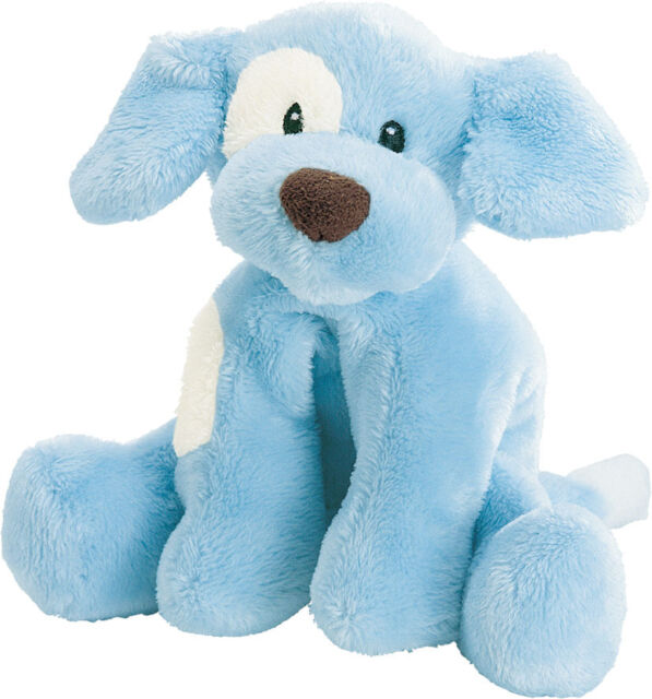 Gund Spunky Barking Puppy Dog Baby Boy Plush Blue Stuffed Animal
