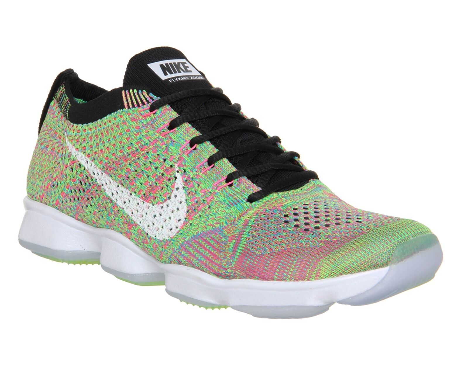 Femme NIKE FLYKNIT ZOOM AGILITY  Multi  Rainbow Colour way Taille7 New