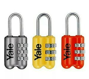 X2  3 Digit  SILVER  Combination Padlock Travel LuGgage Suitcase lock pd128