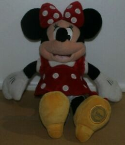 Disney-Store-Authentic-Minnie-Mouse-Red-Polka-Dot-Plush-Toy-aprx-14-034-Doll-Mickey