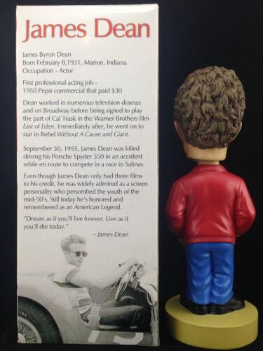 BOSLEY BOBBERS JAMES DEAN RED JACKET 2003 RELEASE BOBBLE HEAD BRAND NEW *V RARE*