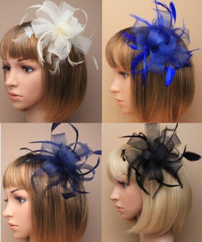Wedding//Races//Funeral Flower Veil Ribbon a HAIR FASCINATOR Clip//COMB//Headband