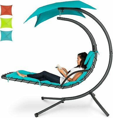 PATIO HANGING HELICOPTER DREAM LOUNGER CUSHION STAND CHAIR ... on Hanging Helicopter Dream Lounger Chair id=60940