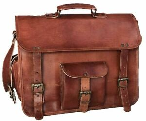 JSV-New-Men-Real-Leather-Brown-Tote-Bag-Shoulder-Bag-Messenger-Briefcase-Gift