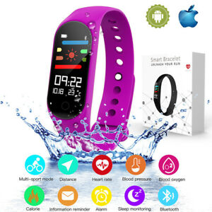 M3S-Blood-Pressure-Oxygen-Heart-Rate-Monitor-Smart-Wrist-Band-Bracelet-Watch-New