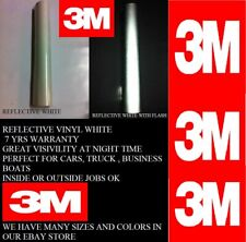 24 X Feet White 3m Reflective Roll Vinyl Adhesive Cutter Sign 7 Years
