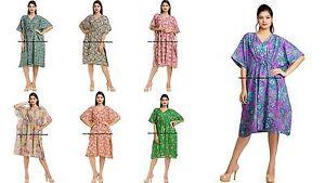 5a706743f88 Image is loading Indian-Short-Kaftan-Plus-Size-Women-Dress-Caftan-