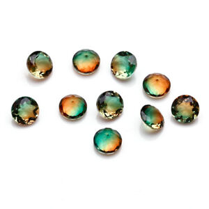Wholesale-5-MM-0-4-CT-Round-Loose-Gemstones-Watermelon-Tourmaline-BI-Color