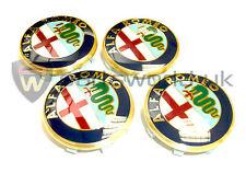 Set Of FOUR New Alfa Romeo Alloy Wheel Centre Caps 159 Brera Spider & Giulietta