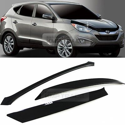 Smoke Emblem Front Hood Guard Bug Shield Molding for HYUNDAI 10-15 Tucson ix35