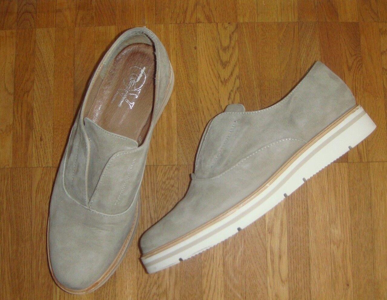 Slip on Sneaker Georgio Venuti Firenze sand Wildleder Leder Futter Gr. 39 w NEU