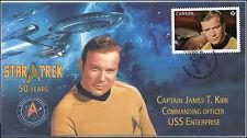 2016, Canada FDC, Star Trek, Captain James T Kirk, 16-020