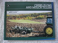 1985 John Deere Chisel Plows Amp Mulch Tillers 24 Page Brochure Nice