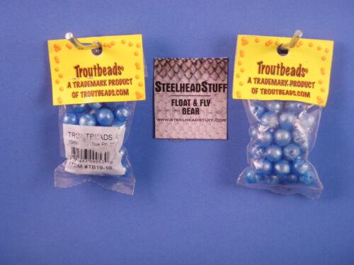 Troutbeads Blue 10mm  Trout Bead Egg Steelhead-Salmon $2.50 US Combined Ship*