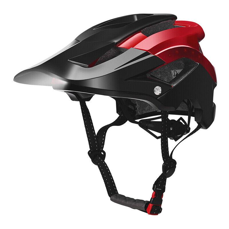ROCKBROS Ciclismo Bicicleta Bici Casco de Bicicleta de montaña con luz inteligente USB 57-62cm de reCochega