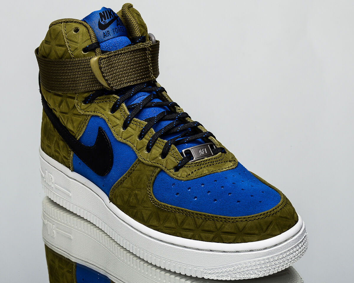 Nike Wmns Air Force 1 Hi Premium Daim Femmes Lifestyle Baskets New Olive Flak