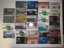 Lot of 28 Vintage Expired Mastercard Credit / Debit / Check Cards for Collectors