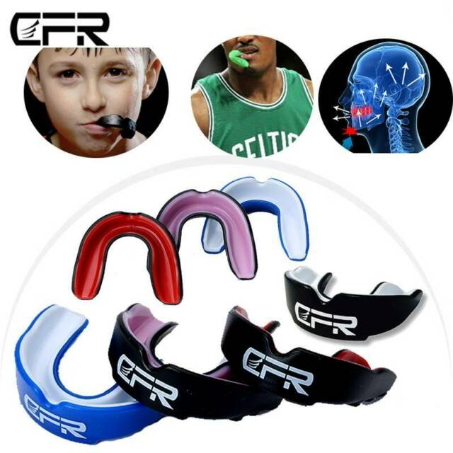 CFR Gum Shield Teeth Protector Mouth Tooth Guard Rugby Boxing Grinding Dental HT