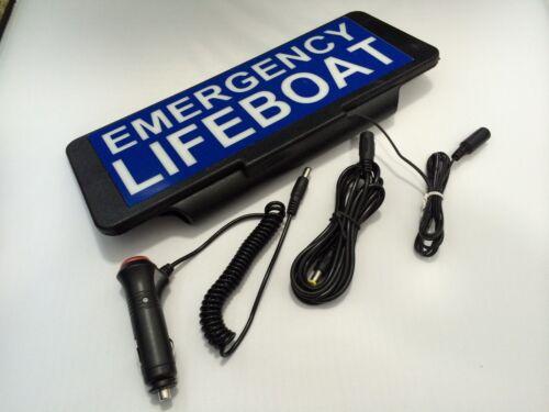 LED Univisor EMERGENCY LIFEBOAT Sign visor illuminated flashing option