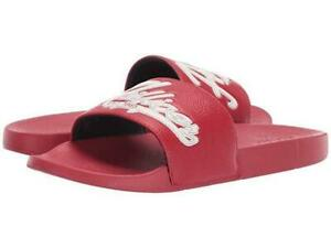 Bnew-Tommy-Hilfiger-Erie-Mens-Slide-Sandals-Dark-red-Size-10