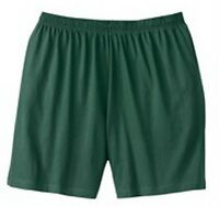 Men's Big & Tall Jersey Knit Activewear Shorts In Hunter Green