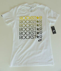 ROCKSTAR-ENERGY-034-PICASSA-034-LADIES-WOMENS-T-SHIRT-M-10-or-L-12-ONE-INDUSTRIES