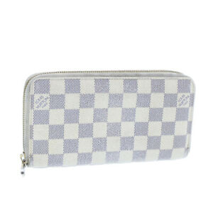 LOUIS-VUITTON-Damier-Azur-Zippy-Wallet-Long-Wallet-N60012-LV-Auth-yk411