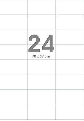 2400 ETIKETTEN 70 X 37 MM WEISS KOMPATIBEL AVERY ZWECKFORM 3474