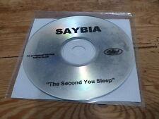 SAYBIA - THE SECOND YOU SLEEP !!!!!!!!!!! ! RARE CD PROMO!!!
