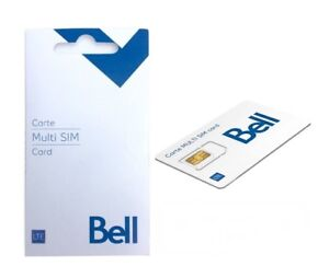 Bell SIM Card + ships same day from Canada -  MULTI SIM