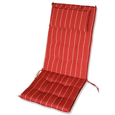 KMH® Hochlehnerauflage rot Polster Sitzkissen Sitzpolster Auflage Sitzauflage