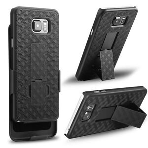 SAMSUNG GALAXY NOTE 5 HARD SHELL HOLSTER CLIP COMBO CASE ARMOR COVER KICKSTAND