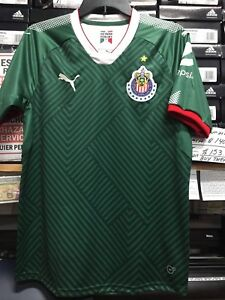 online store 592cf 0c681 Details about Puma Chivas De Guadalajara Green Jersey Limited Edition Size  Medium Only