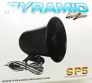 PA-Speaker-Black-3-5mm-plug-Fits-MOST-CB-Radios-and-many-Marine-Radios-NEW