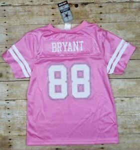 NWT Dez Bryant 88 Dallas Cowboy MESH Pink Glitter Jersey Jr Womens M ... 173dada07