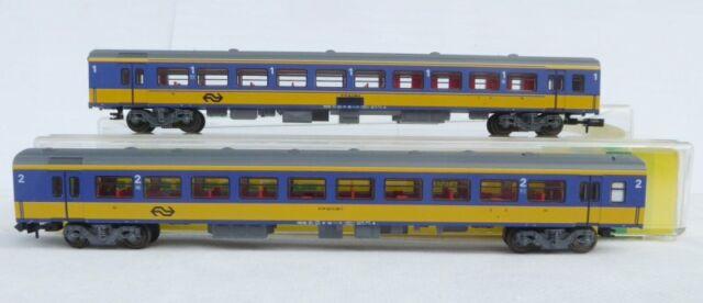Minitrix 13318 + 13319 N Set ICR Schellzugwagen 2-teilig NS Holland Epoche 4-6