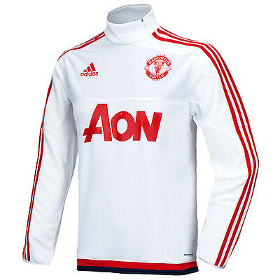 Adidas 2015/16 Manchester United White Soccer Football Training Top AC1968