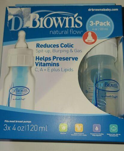 natural flow no colic Dr Browns 4 oz BPA Free  Polypropylene Bottles Pack of 3