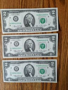 1976-UNCIRCULATED-US-2-NOTES-H-St-Louis-FRB-SEQUENTIAL-ORDER-lot-of-three